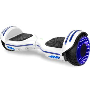ACCESSOIRES GYROPODE - HOVERBOARD Gyropde Hoverboard BLUERIVER Blanc 6.5 Pouces Scoo