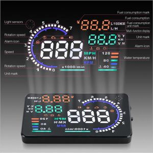 AFFICHAGE PARE-BRISE WOLVES Grand Head Up Display Screen A8 voiture OBD