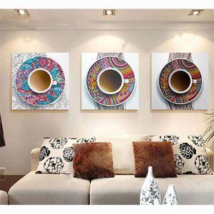 objet dcoration murale se prcipita dcoratif 3 panneaux sans cadre peint