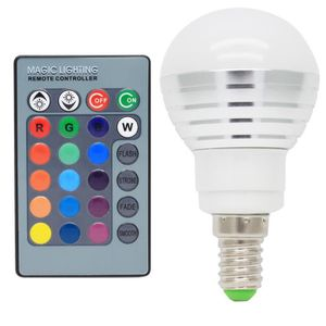 AMPOULE - LED E14 RGB Ampoules LED 3W Multicolore LED 16 Changem