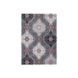 tapis gris et rouge 160 achat vente pas cher. Black Bedroom Furniture Sets. Home Design Ideas