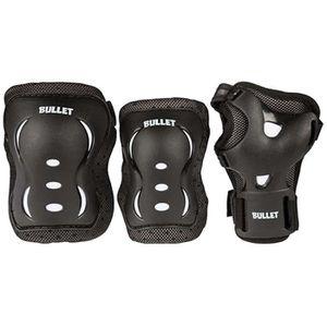 KIT PROTECTION Bullet - Pack de 3 protections - enfant - noir/bla