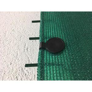 HAIE DE JARDIN 20 clips de fixation traités anti-UV pour brise vu