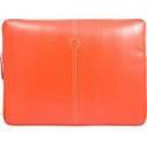 Housse Faconnable Orange Sellier Cuir Apple Macbook 11
