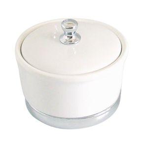 DISTRIBUTEUR DE COTON Boîte à cotons en grès blanc