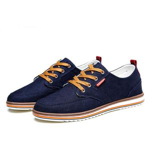 Chaussures En Toile Hommes Basses Quatre Saisons Populaire WYS-XZ114Bleu43 2BWToU