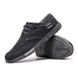 Chaussures En Toile Hommes Basses Quatre Saisons Populaire TYS-XZ112Gris43 zAJ7pFU