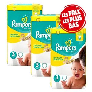 COUCHE Mega Pack 200 Couches Pampers New Baby - Premium P