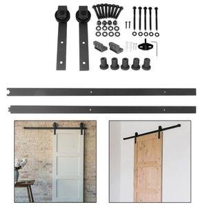 rail porte coulissante suspendue achat vente pas cher. Black Bedroom Furniture Sets. Home Design Ideas