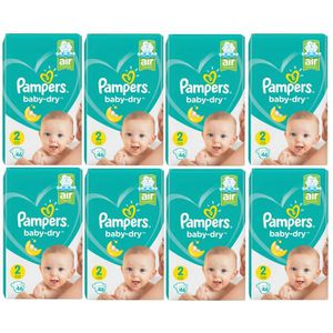 COUCHE Pampers Baby Dry Taille 2 Mini 4-8kg 368 Couches