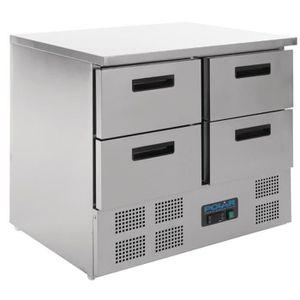 BUFFET RÉFRIGÉRÉ  Table réfrigérée compacte 4 portes 240L Polar