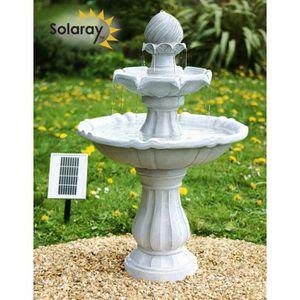 FONTAINE DE JARDIN Fontaine de jardin solaire « L'Impériale » Bain d'