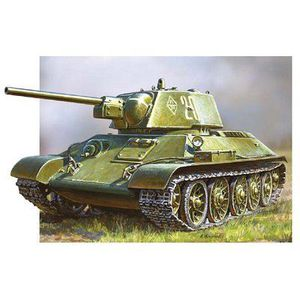 VOITURE À CONSTRUIRE Tank soviétique T-34/76 - Premier modèle réduit
