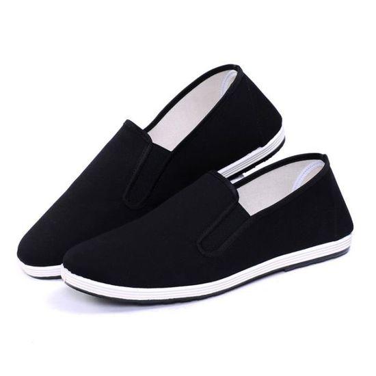 chaussures noires Les vieux hommes sport de moyen d'âge pneus et qUY0q