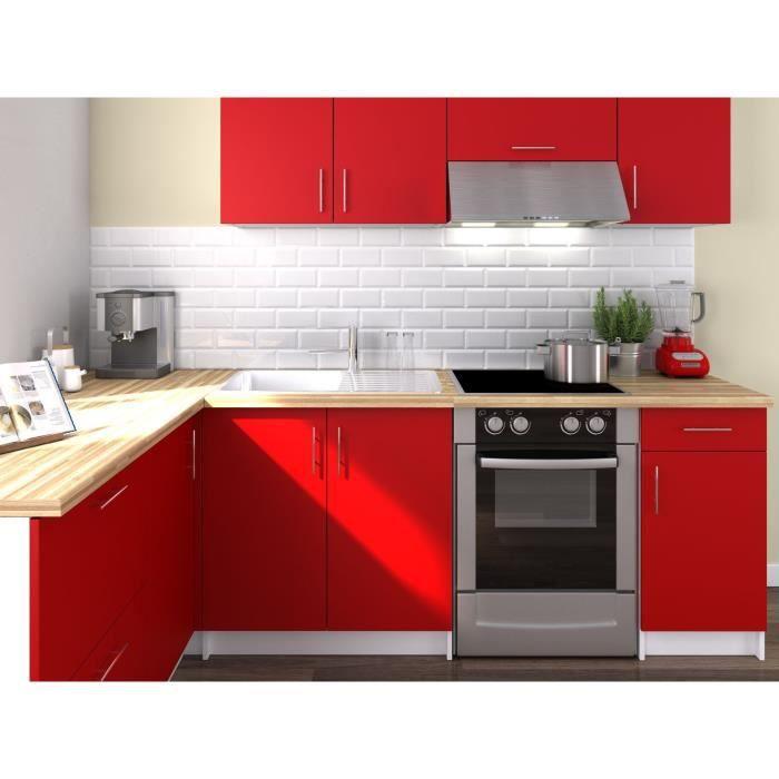 cuisine complete rouge achat vente cuisine complete rouge pas cher soldes d s le 10. Black Bedroom Furniture Sets. Home Design Ideas