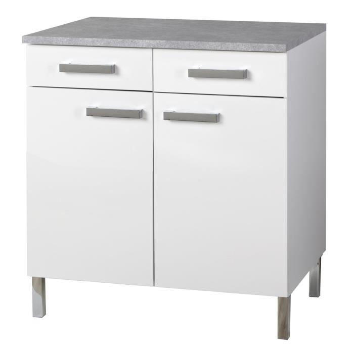 suny meuble bas 80 cm avec plan de travail blanc achat vente elements bas suny meuble bas. Black Bedroom Furniture Sets. Home Design Ideas