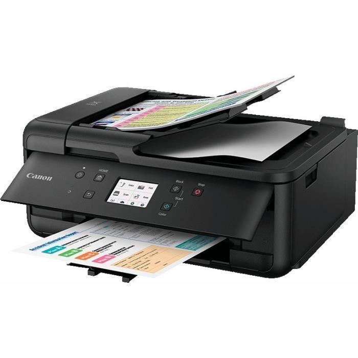CANON Imprimante jet d'encre Pixma TR7550 Multifonction 4 en 1 Noire - WiFi - Ethernet - Couleur - A4