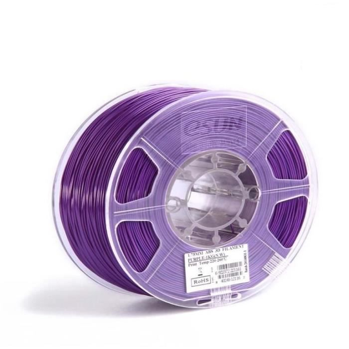 ESUN Filament pour Imprimante 3D ABS ESUN - Thermosensible Violet / Rose - 1,75 mm - 500g