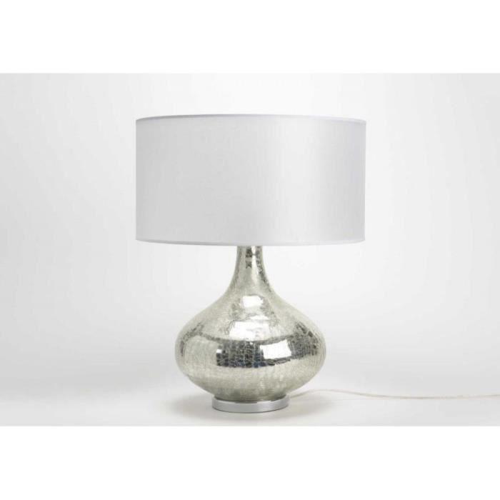 lampe de table en verre craquele abj nacre serenad 5 Nouveau Lampe Verre Iqt4