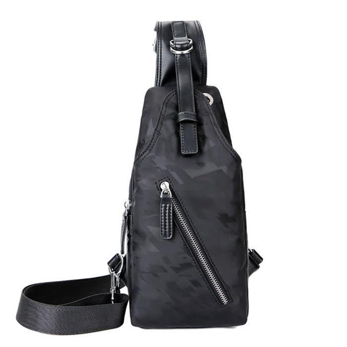 Sports de plein air Loisirs Slanted Sac dépaule Pack poitrine imperméable à leau IS62P