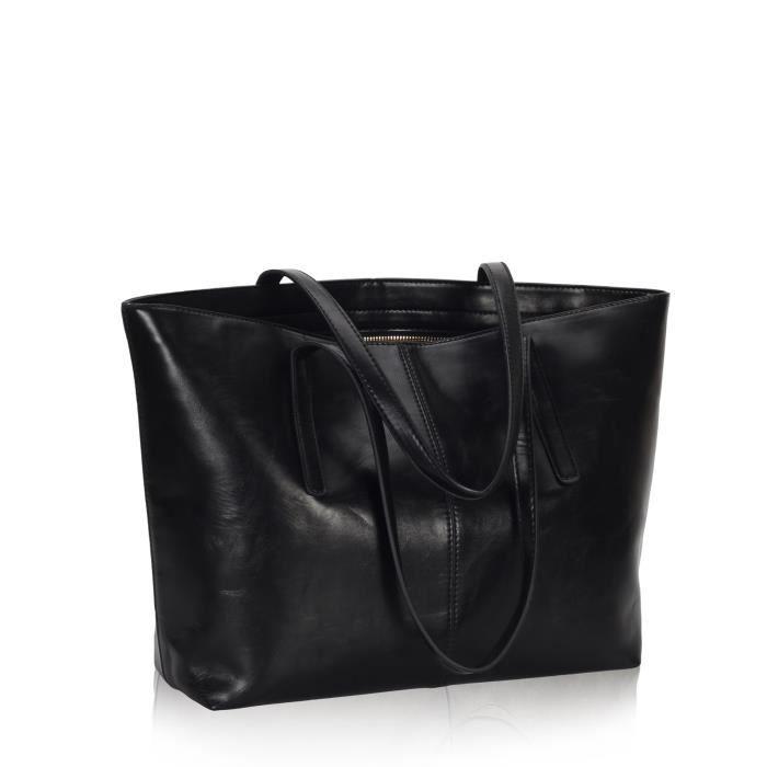 Meaeo Sac À Main Épaule Unique Nouvelle Mode Rétro Confortable,Black
