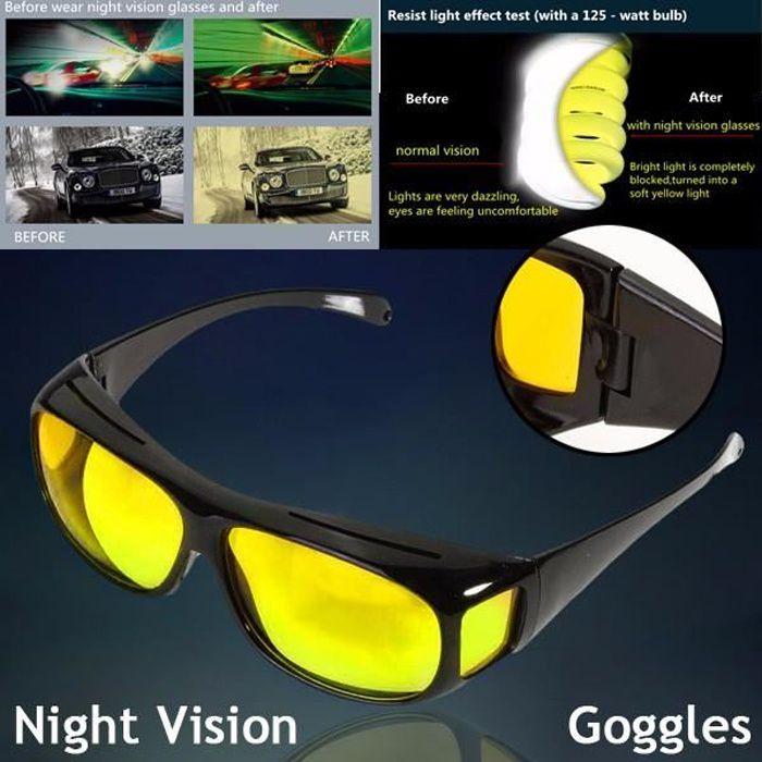 magasin d'usine cd979 721b3 HD Goggle Unisex Lunettes De Soleil UV Protection Nuit Vision Conduite  Nocturne