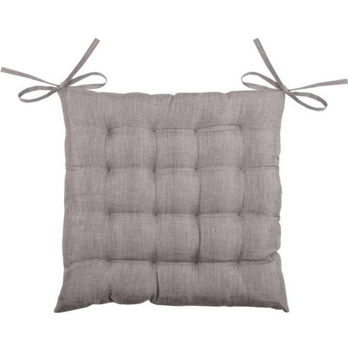En Achat Chaise Vente De Taupe Galette Polyester Bea Coussin nP80wkNOX