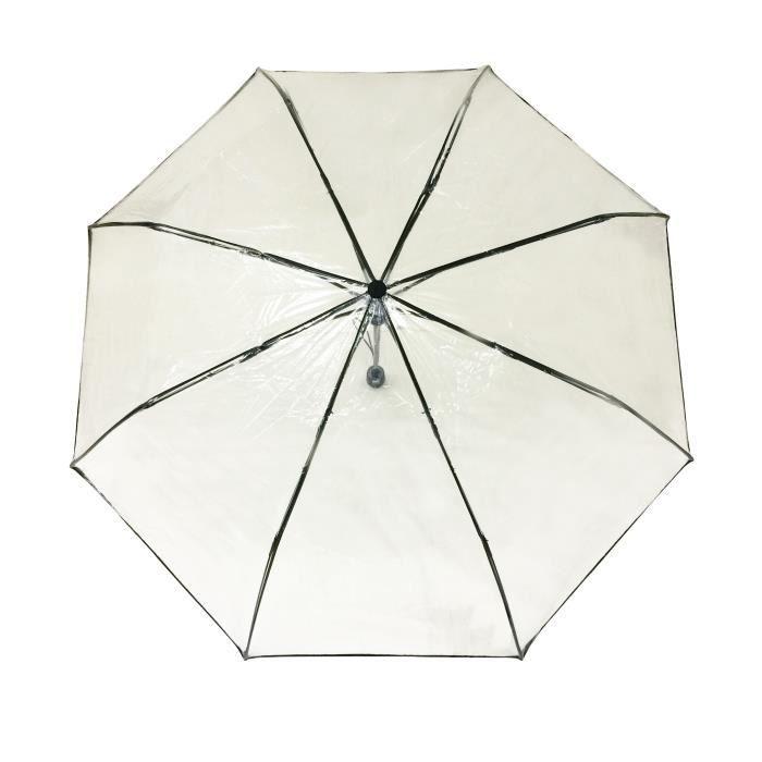 San Francisco 12fea 2ee43 SMATI Parapluie pliant transparent - automatique - compact - Solide  Anti-vent