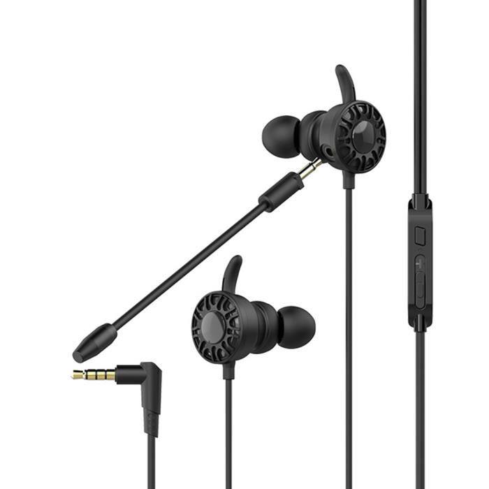 Ototon® Ecouteurs De Jeu Gaming Filaires Avec Micro Ajustable Pour Xbox Ps4 Pc Ordinateur Portable - Noir