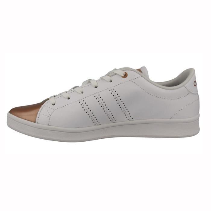 aba763e80062 Adidas Chaussures Qt Originals Advantage Femme Clean Baskets Blanc rw6qrTX