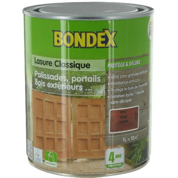 Lasure Intrieur  Extrieur Bondex  Teck   L  Achat  Vente