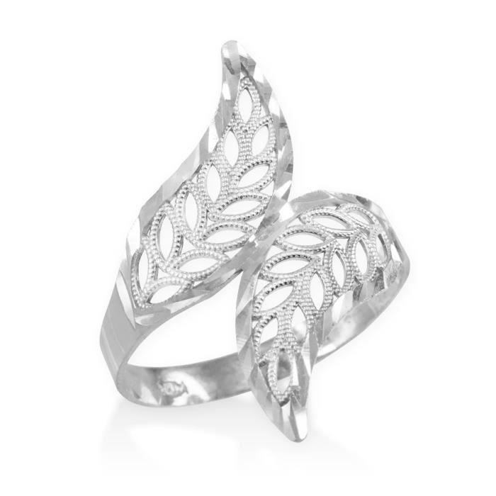 Bague Femme Argent Fin 925/1000 Diamant Coupe Filigrane