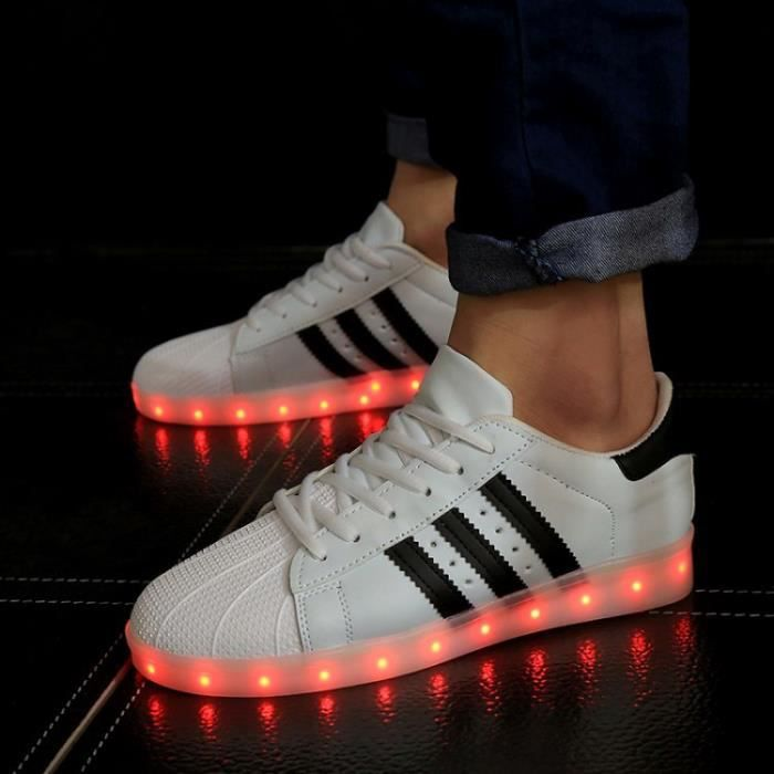 Femme Led Eh29id Chaussure Basket Lumineuse Couleurs Homme 7 Blanc BdCtsxohQr