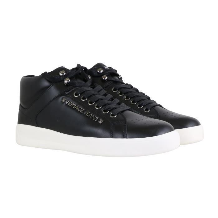 Clouté Jeans Chaussure Montante Noir 45 Bsh4noir Versace b6y7fg