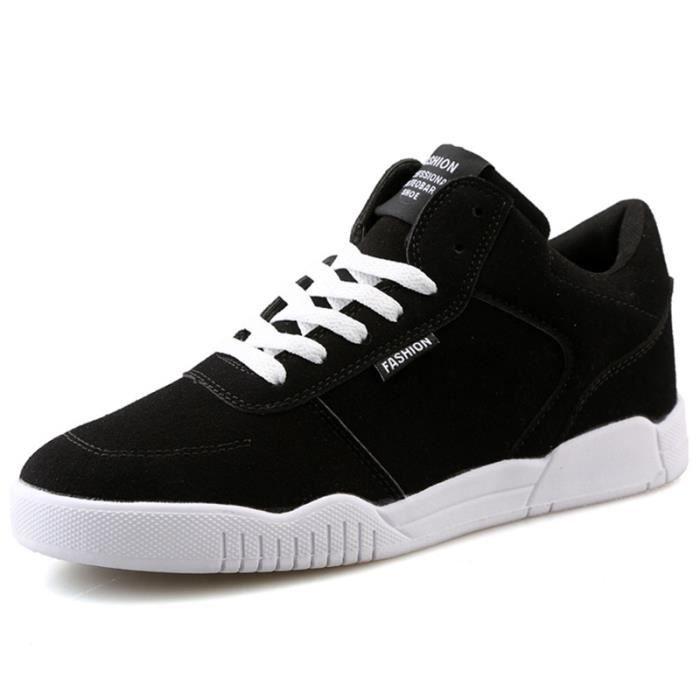 Chaussures De Sport Pour Femme en daim Textile De Course Durable CHT-XZ127Noir42