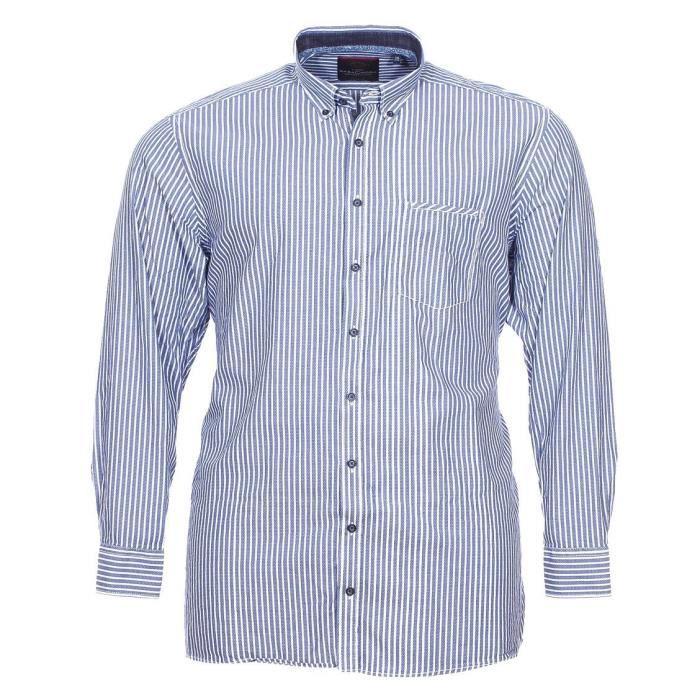 design élégant site réputé sur des coups de pieds de Chemise grande taille Casa Moda col boutonné à rayures bleu ...