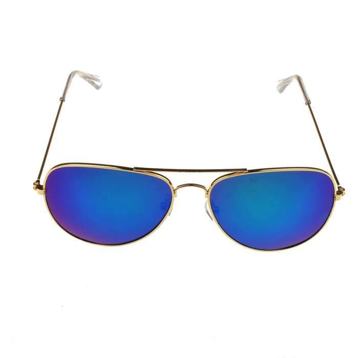 hommes Classic métallique dore lunettes soleil rétro unisexe Femmes cadre vert de q56PxUd