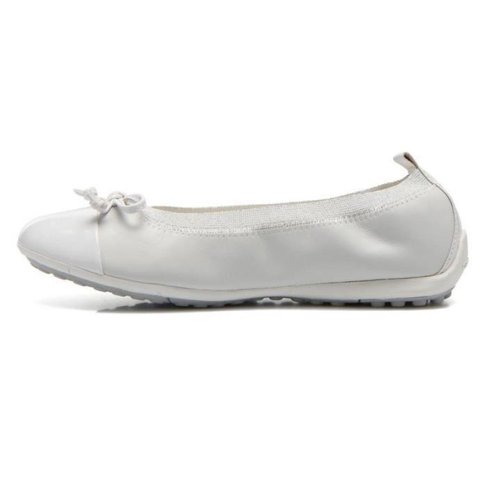 Géox Ballerines Blanc Elastique (28 - Médium - blanc)