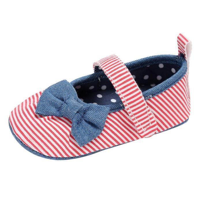 BOTTE Bébé nourrisson enfants fille douce semelle enfant nouveau-né chaussures@Rose rougeHM ih0TWTtN