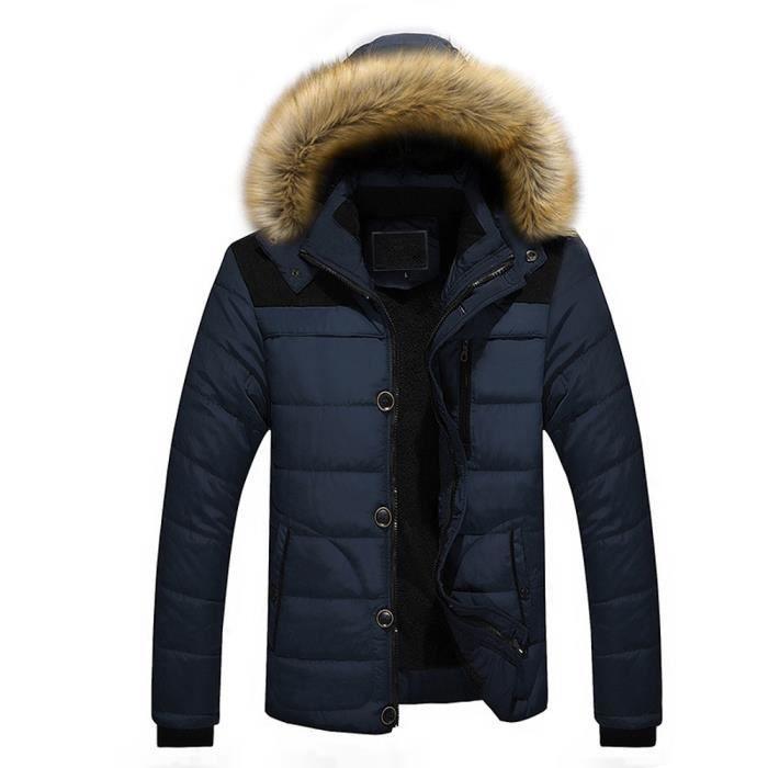 Llw5013 Plein D'hiver À Veste Épais En Chaud Fourrure Les Hommes Capuchon Plus Air Manteau qwpEcO1