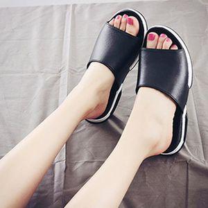 Plage décontractée hommes respirants pantoufles Sandales été maison plat tongs chaussures LJD80313892BK Noir Y0d34L