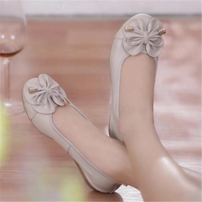 Chaussure Femme Cuir Printemps Été Comfortable Mode Chaussures BJYG-XZ067Bleu42 MyCcBZnRuZ