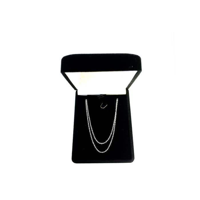 Collier- 14k or blanc corde, 0,7 mm, 16
