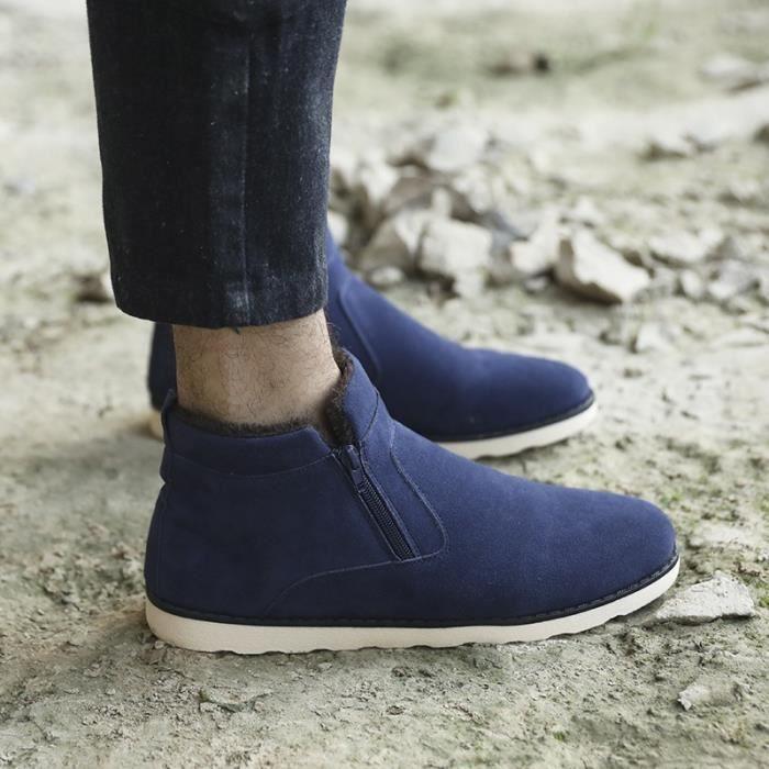 Botte Homme plate-forme Zipper Vintagehaut-top bleu taille39
