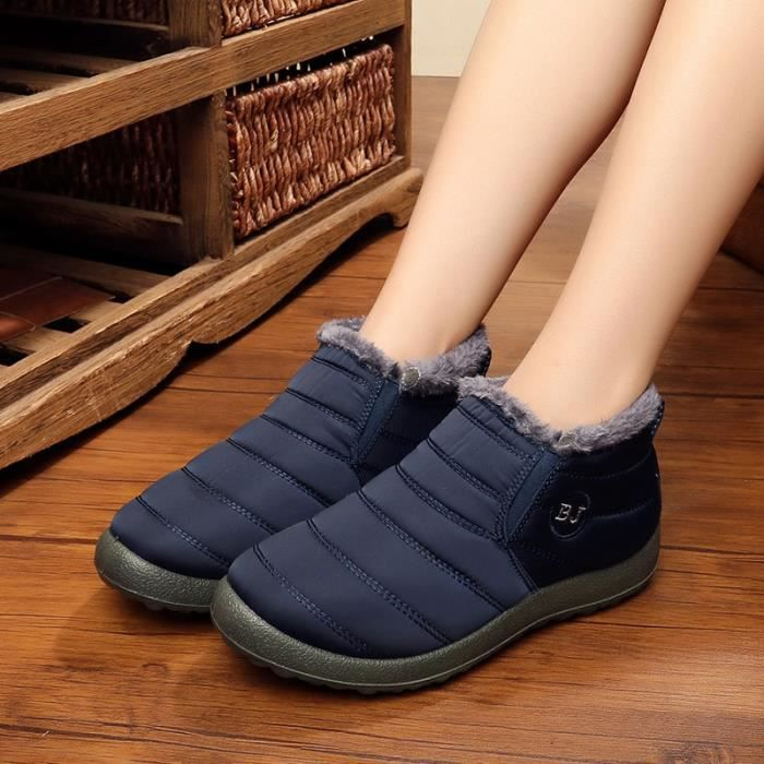 chaussure multisport pour Homme bleu foncéChaussures de coton Loisirs de plein air chaud chaussures Chaussures