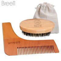 BROSSE - PEIGNE Kit de peigne de barbe pour hommes Brosse à barbe