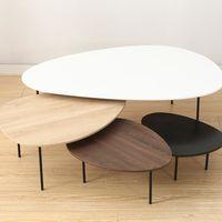 Ensemble De Quatre Tables Basses Gigognes Modernes Tables Basse En