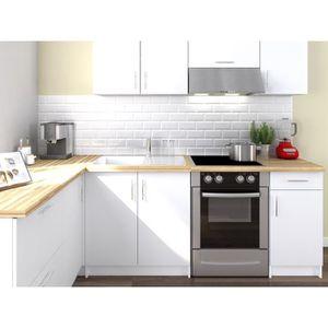 CUISINE COMPLÈTE OBI Cuisine complète d'angle L 280 cm - Blanc mat