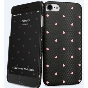 I-PAINT Coque Sweety pour iPhone 7 - Noir