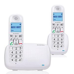 48da288607ba90 Téléphone fixe Alcatel XL385 Duo Blanc
